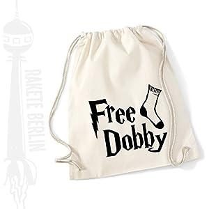 Turnbeutel Rucksack Baumwolle ' Free Dobby '