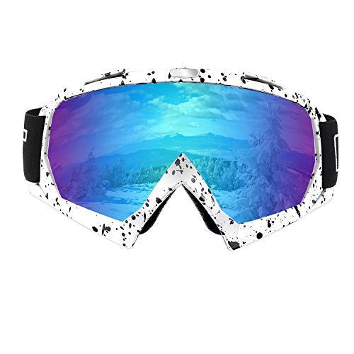 Xian Ju Skibrille Snowboard Brille, ÜBer Schneebrille, Antifog, UV400 Schutz, BelüFtete Ski- und Snowboardbrille | Komfortabel, Bruchsicher FüR Skier, Motorschlitten und Snowboards -