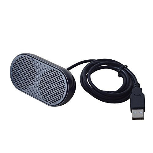 UKHONK Mini USB Lautsprecher Tragbarer Lautsprecher Powered Stereo Multimedia Lautsprecher für Notebook Laptop PC(Schwarz) Mini Usb-stereo -