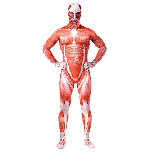 wthfwm Angriff auf Titan Anime Kostüm Halloween Erwachsene Cosplay Kostüm Strumpfhosen Siamesische Druck Film Spiel ()