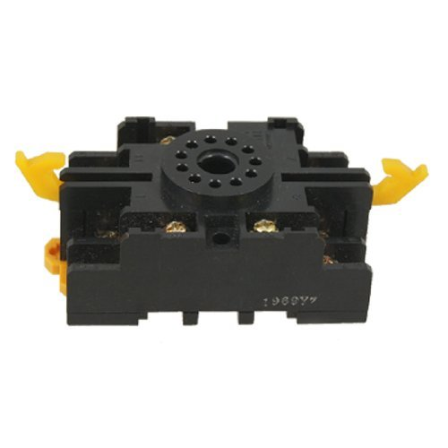 10A 250V AC Ronde 11 Pin 11PFA Relay Socket Base DIN rail grendelarmen 11-pin Relay Socket