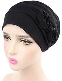 adb83674e127c ZYCC Mujeres Cabeza Bufanda Sombrero Gorra Chemo Cáncer Étnicas Tela  Imprimir Turbantes Gorros Estiramiento Flor musulmanes