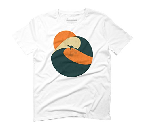 Sunset on desert Men's Graphic T-Shirt - Design By Humans White
