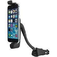 Attivo Fulmine 8-Pin di auto auto di telefono del supporto del supporto flessibile a collo di Cigno per accendisigari con funzione di ricarica, connessione USB per Apple iPhone 5 / 5C / 5S / 6 / 6S / SE / 7
