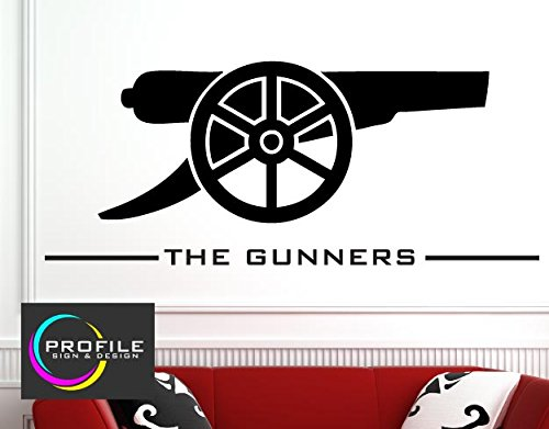 ARSENAL FC - THE GUNNERS - WALL ART STICKER DECAL SIZE APPROX 966 X 430 mm MADE BY PROFILE SIGN by PROFILESIGNS.CO (Profile High Zuschneiden)