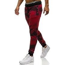 bf1a5b42c7 BOLF Hombre Pantalón De Chándal Jogger Pantalones Deportivos Diseño  Camuflaje Pantalón de Algodón ...