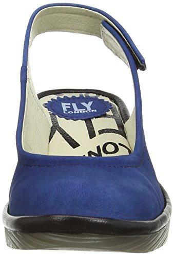 Fly London Pype, Sandali con Tacco Donna Blu (Blue (Blue/Black))