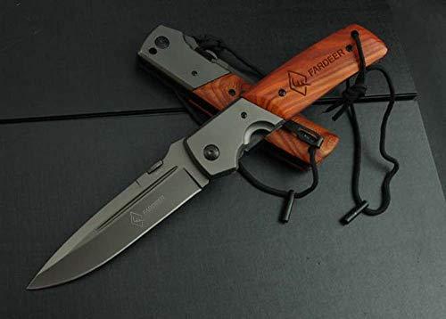 QUIET TOWN FARDEER Couteau Pliant Couteau de Survie D'extérieur FD52