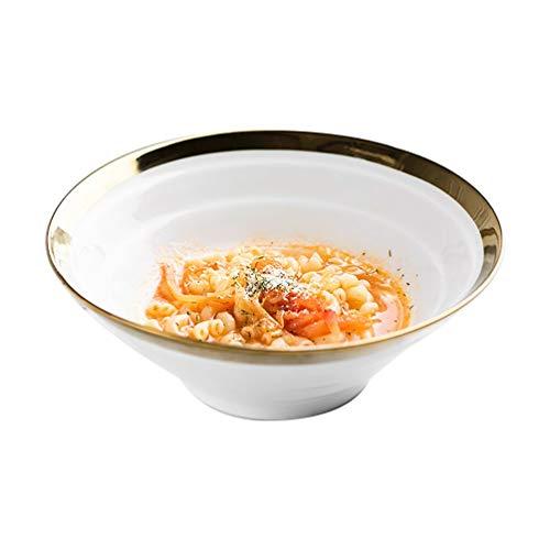LIXBD Kitchenware/Tableware Startseite New Bone China Ramen Bowl Kreative Gewindebeschichtung Horn Bowl Rindfleisch Nudel Bowl Schüssel