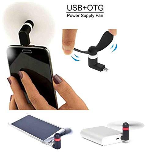 GKP PRODUCTS Mini Portable OTG/Smartphone/Tablet/Mobile Fan (Multicolour) Model 114983