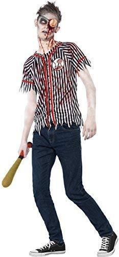 Fancy Me Teen Ältere Jungen Zombie Baseball Spieler Halloween Kostüm mit Öse Patch & Baseballschläger 12-14 Jahre (Zombie Baseball Kostüm)