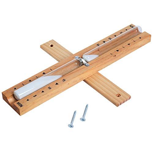 ZHIJING Sauna Sanduhr aus Holz 15 Minuten Saunauhr genauer und leicht ablesen, Sauna Zubehör aus hitzebeständigen Materialien, Kontrastfarbe, 2 Jahre Garantie (Dusche Sand Timer)