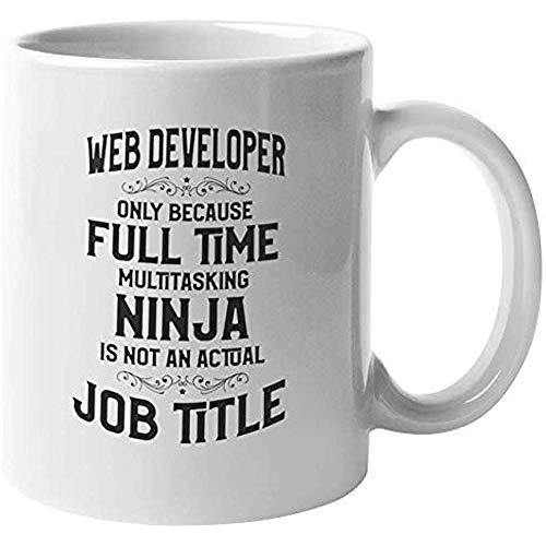 Taza de regalo de café y té para desarrolladores web para TI, diseñador, codificador y programador (11 oz)