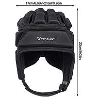 rcraftn Esquí/Rugby/Ciclismo Casco Protección para la Cabeza Velour Deporte al Aire Libre Sombrero Protector para la Cabeza Sombreros para Uso en Invierno Unsex