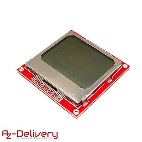 AZDelivery ⭐⭐⭐⭐⭐ 84 x 48 Pixeln LCD Display Modul mit Hintergrundbeleuchtung für Nokia 5110, Arduino und Joystick PS2 Gamepad