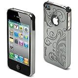 muvit Luxury Back Coque rigide en polycarbonate pour iPhone 4 Transparent