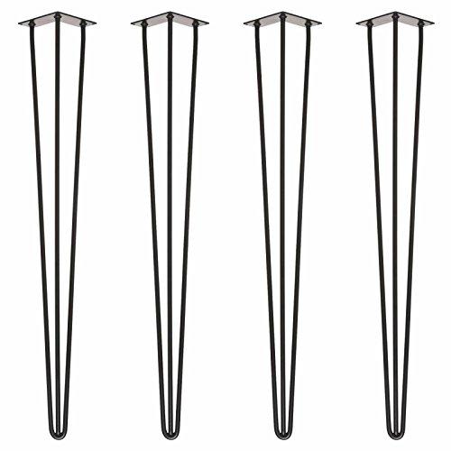 4 x Pieds de table en épingle à cheveux – Disponibles en plusieurs dimensions et couleurs