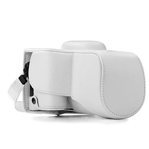 MegaGear Ultraleichte Leder-Schutzhülle für zstk letopd3400 - Weiß