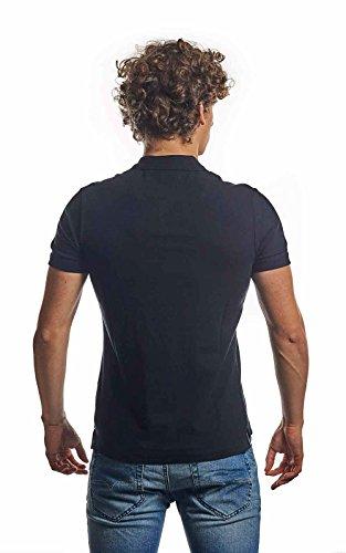 Diesel Herren Kalar Plain Logo Polo Shirt, Schwarz Schwarz