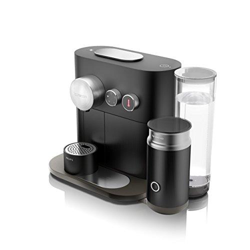 Nespresso Krups Expert Milk XN 6018-Cafetera de cápsulas, 19 bares, apagado automático, 4 especialidades de café, conectividad, color Black