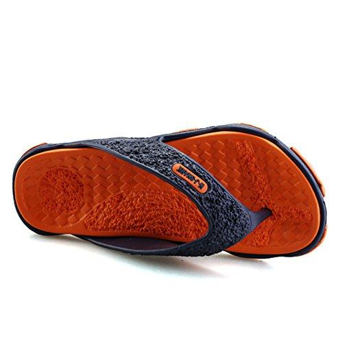 Sommer Ultralight Flip Flops Pantoletten Outdoor Freizeit Urlaub Zehentrenner Hausschuhe Massage Rutschfest Sohle Slipper Herren jungen Orange