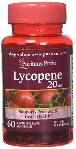 Puritan 's Pride Licopeno 20 MG-60 °Cápsulas blandas'