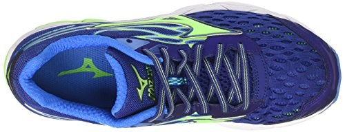 Mizuno Wave Catalyst, Chaussures de Course Homme Multicolore (Blueprint/green Gecko/blue Aster)