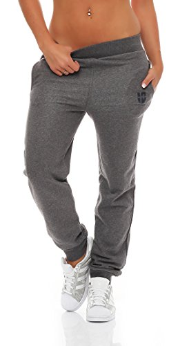 Gennadi Hoppe Damen Jogginghose Trainingshose Sweat Pants Sporthose Fitness Hose,grau,Small