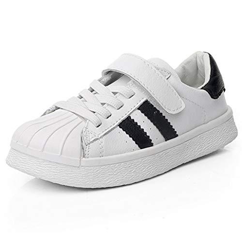 Qianliuk Leder Kid Sneakers atmungsaktiv Deodorant Kinder Basketball Schuhe Mädchen Stoßdämpfung Freizeitschuhe für Vier Jahreszeiten -