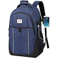 0cb2c50a2d7ae Deaman Leinwand Wasserdicht Schulranzen Herren Einfach Rechteckig Backpack  Portable Freizeit Business Rucksack Groß 15 Zoll Laptop