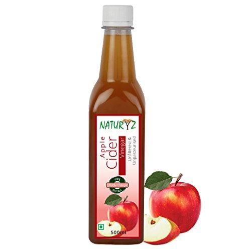 Naturyz Apple Cider Vinegar - 500 ml, with Mother Vinegar,Natural, Raw, Unfiltered, Undiluted