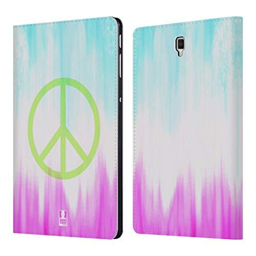 Head Case Designs Frieden Batiken S2 Brieftasche Handyhülle aus Leder für Samsung Galaxy Tab S4 10.5 (2018) - Batik-leder