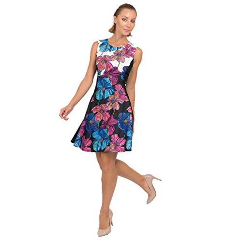 Joseph Ribkoff Black White & Multicolor Dress Style 192668 - Spring/Summer 2019