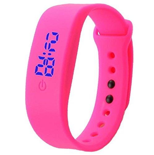 Reloj Digital Sannysis Pulsera de deportes LED (Rosa)