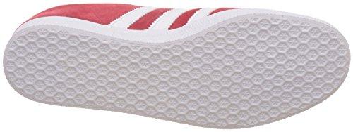 adidas Gazelle, Formatori Bassi Unisex – Adulto Rosso (Scarlet/footwear White/gold Metall)