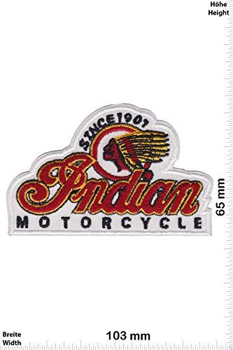 Patch - Indian Motorcycle - Since 1901 - White - HQ - Motorrad - Motorrad - Indian - Aufnäher - zum aufbügeln - Iron On