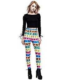 Pantimedias de compresión para mujeres Puntas digitales de las mujeres impresas del color de la moda