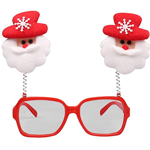 Sammoson christmas glasses frame cute kids ornamenti per adulti decor evening party toy - occhiali di natale