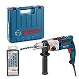 Bosch Schlagbohrmaschine GSB 21-2 RCT + Mehrzweckbohrer-Set 4-teilig 4-8 mm