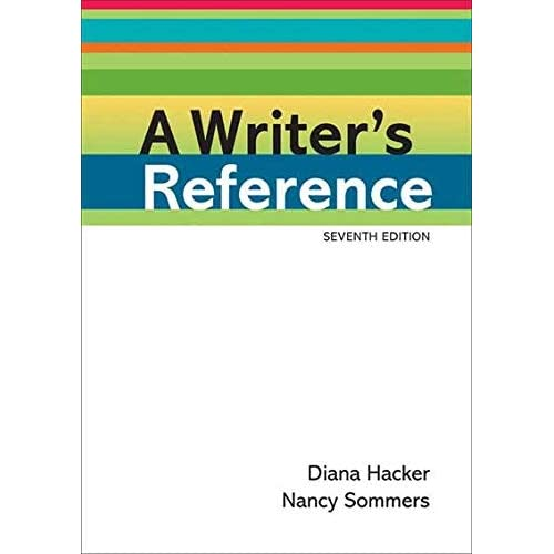 A Writer's Reference by Hacker, Diana, Sommers, Nancy 7th (seventh) (2010) Plastic Comb