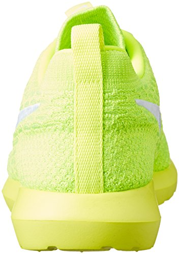 Nike Mens Roshe Nm Flyknit Shoe, Scarpe da Ginnastica Uomo Amarillo (volt/white-electric green)