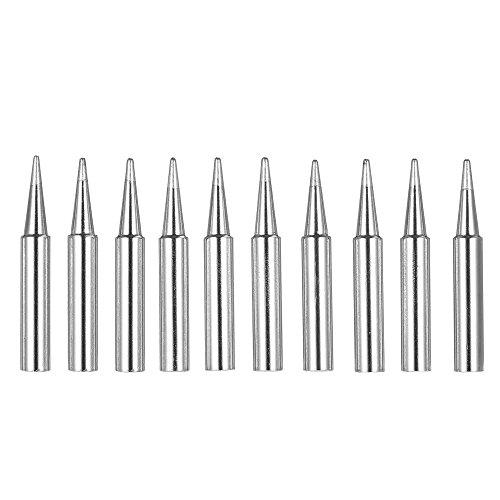 KKmoon Lötkolbenspitzen, Ersatzspitzen für Lötgeräte, bleifrei, Größe 900M-T-B, geeignet für das Lötstation-Zubehörset 936-907 von Hakko, 10 Stück