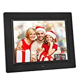 Crosstour Digital Photo Frame 8 Inch, Wide Screen Electronic Picture/Music/Video Frame USB SD/MMC