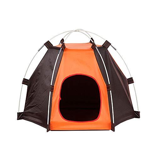Lionina Reise-Haustier-Zelt, faltendes wasserdichtes Lichtschutz-regendichtes sechseckiges Haustier-Zelt, abnehmbares tragbares Laufstall-Spaß-Haus im Innen- / Außenbereich für Hunde Katzen-Bett-Haus