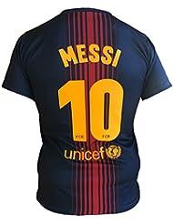 Maillot Football Barcelona Lionel Messi 10 Réplique Officielle 2017-2018 Jeunes Hommes