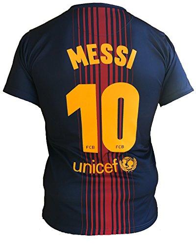 Trikot Fußball Barcelona Lionel Messi 10 Replik Official 2017-2018 Kinder Junge Männer (Größe 10 Jahre) (Ape-logo-t-shirt)