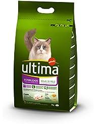 Ultima Pienso para Gatos Esterilizados Bolas de Pelo con Pavo - 3kg