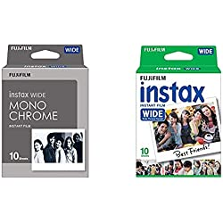 Fujifilm Instax Wide Pack de 10 Film Monochrome & Film Instax Wide Fujifilm Pack 1x10 poses