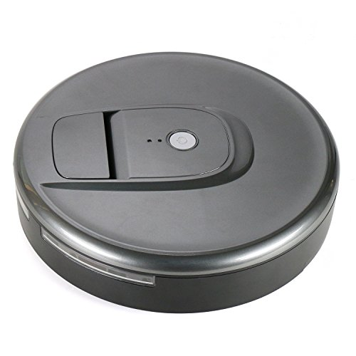 Robotic Vacuum Cleaner Intelligent Vacuums Robot Sweeper High Suction Household Wireless Smart Robotics Hoover with Drop-Sensing Technology, Designed for for Pet Hair, Debris and Dirt, Hard Floor and Thin Carpet ( Grey)