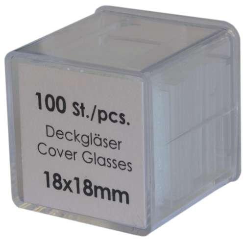 Deckgläser 18x18mm, 100 Stück - Deckgläschen